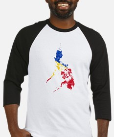 Philippines Flag And Map Baseball Jersey