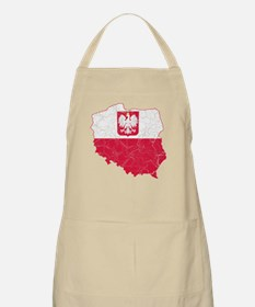 Poland State Ensign Flag And Map Apron