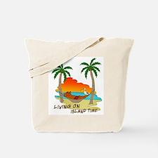 Living on Island Time tote Bag