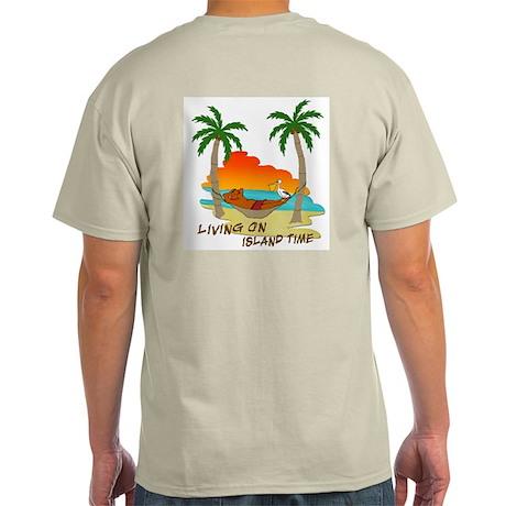 Living on Island Time Ash Grey T-Shirt