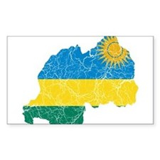 Rwanda Flag And Map Decal