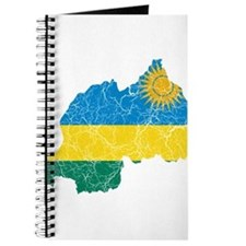 Rwanda Flag And Map Journal