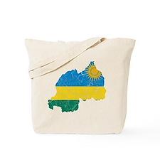 Rwanda Flag And Map Tote Bag
