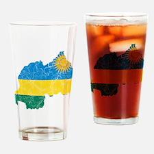Rwanda Flag And Map Drinking Glass