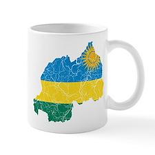 Rwanda Flag And Map Mug