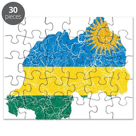 Rwanda Flag And Map Puzzle By FlagAndMapCracked