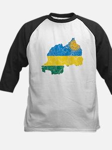 Rwanda Flag And Map Kids Baseball Jersey
