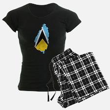 Saint Lucia Flag And Map Pajamas