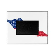 Samoa Flag And Map Picture Frame