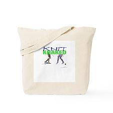 Knit Knaked Knitting Tote Bag