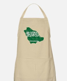 Saudi Arabia Flag And Map Apron