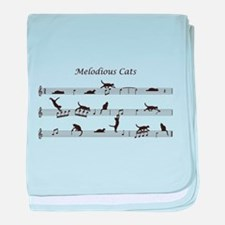 Melodious Cats baby blanket