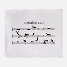 Melodious Cats Throw Blanket