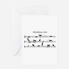 Melodious Cats Greeting Card