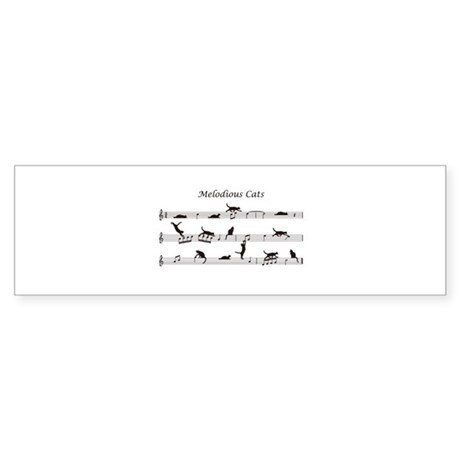 Melodious Cats Sticker (Bumper)