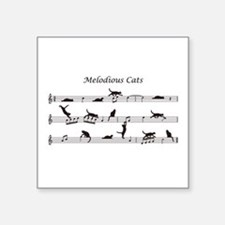 "Melodious Cats Square Sticker 3"" x 3"""