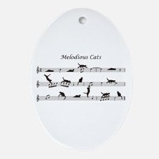 Melodious Cats Ornament (Oval)