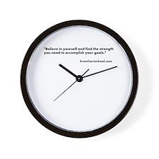Motivational #3 Wall Clock