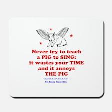 Funny Flying Pig Mousepad