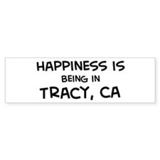 Tracy - Happiness Bumper Bumper Sticker