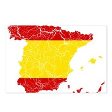 Spain Flag And Map Postcards (Package of 8)