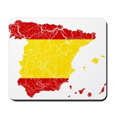 Spain Flag And Map Mousepad