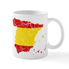 Spain Flag And Map Mug