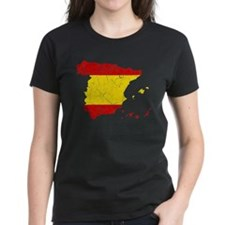 Spain Flag And Map Tee