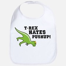 T-rex Hates Pushups Bib