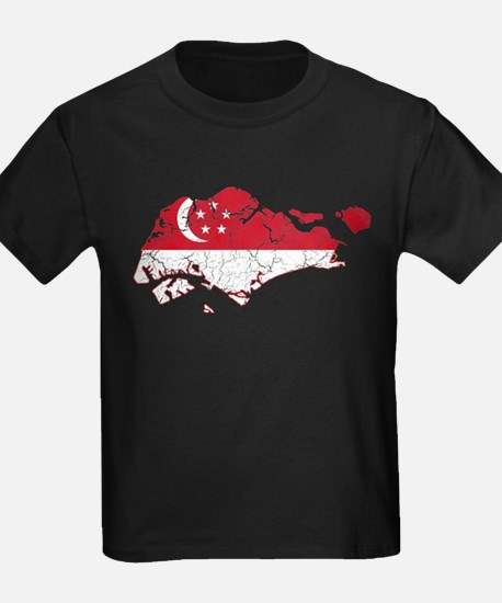 Singapore Flag And Map T