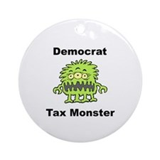 Democrat Tax Monster Ornament (Round)