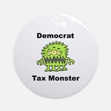 Democrat Tax Monster Ornament (Round)