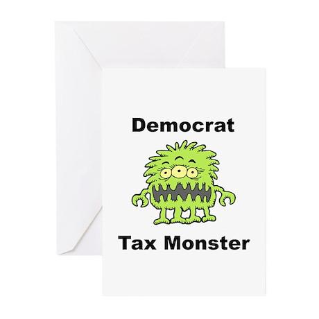 Democrat Tax Monster Greeting Cards (Pk of 10)