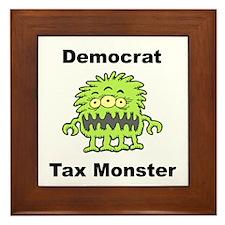 Democrat Tax Monster Framed Tile