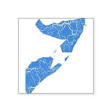"Somalia Flag And Map Square Sticker 3"" x 3"""