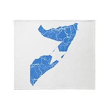 Somalia Flag And Map Throw Blanket