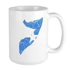 Somalia Flag And Map Mug
