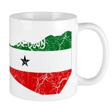 Somaliland Flag And Map Mug