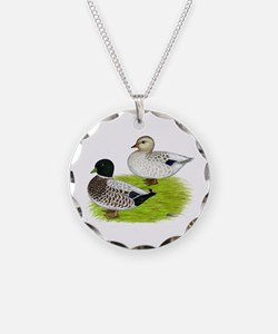 Snowy Call Ducks Necklace