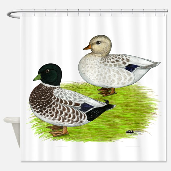 Snowy Call Ducks Shower Curtain