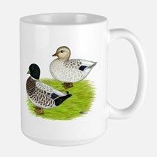 Snowy Call Ducks Mug