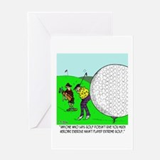 Extreme Golf Greeting Card