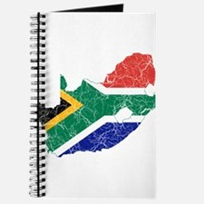 South Africa Flag And Map Journal