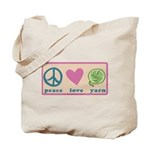 Peace Love Yarn 3-ply.png Tote Bag