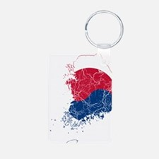 South Korea Flag And Map Keychains
