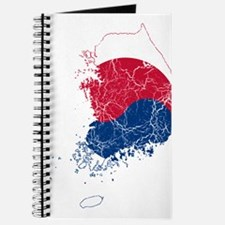 South Korea Flag And Map Journal