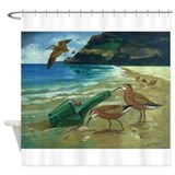 Beach birds Shower Curtains