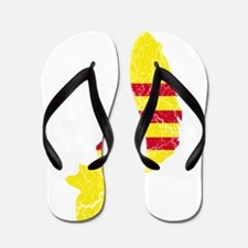 South Vietnam Flag And Map Flip Flops