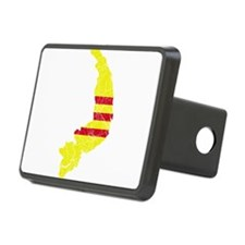 South Vietnam Flag And Map Hitch Cover