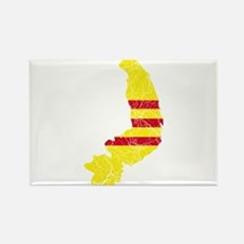 South Vietnam Flag And Map Rectangle Magnet